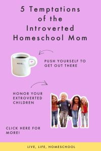 introverted homeschool mom