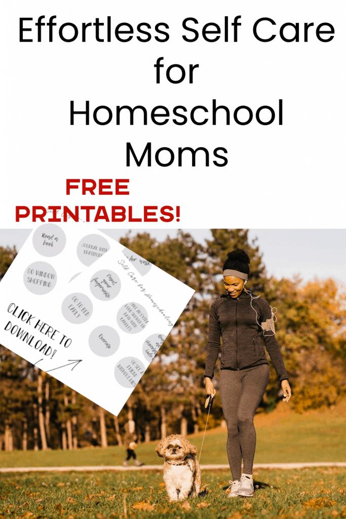 self care ideas, homeschool moms